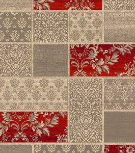 Alfombra moderna de lana para salón, todas las estancias y pasillos Persia879 beig-gris