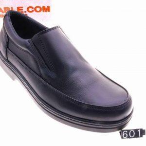 zapato piel elastico negro pisable mod:601