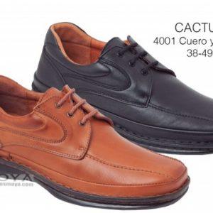 CACTUS. ZAPATO CRISPINO HECHO EN ESPAÑA TODO PIEL. 38/49. Modelo: 4001 cuero y Negro