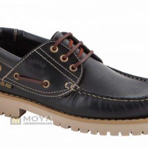 Zapatos náuticos hombre tallas especiales URBAN JUNGLES, NAUTICO PIEL HECHO EN ESPAÑA. Modelo: 3000 Negro 34/51.