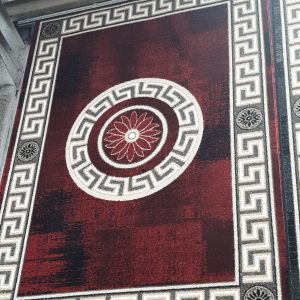 alfombra bonita cenefa y circulo