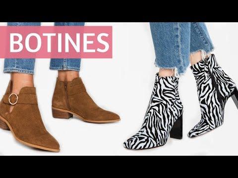 MODA en BOTINES planos y con tacón alto   Tendencias en Zapatos de estilo Otoño Invierno 2019 2020