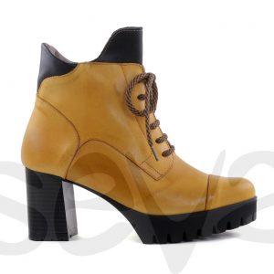 Botas para mujer en piel tacón alto plataformas 6367bd