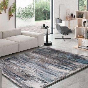 Alfombra moderna abstracta Norah 23271 14 Gris