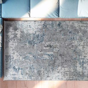 Alfombra de Arte Abstracto Riad 23610 19 Plata